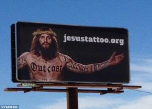 One of the Jesustattoo.org billboards in Texas (I'm a native Texan, by the way)