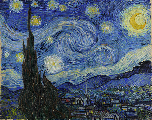 "Vincent Van Gough's ""The Starry Night."""