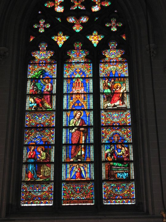 Stained glass in St. Patrick's Cathedral, NYC