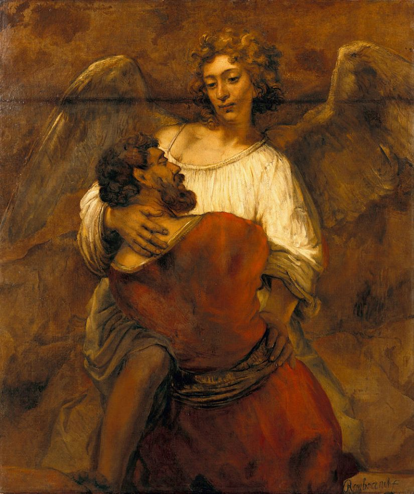 858px-Rembrandt_-_Jacob_Wrestling_with_the_Angel_-_Google_Art_Project