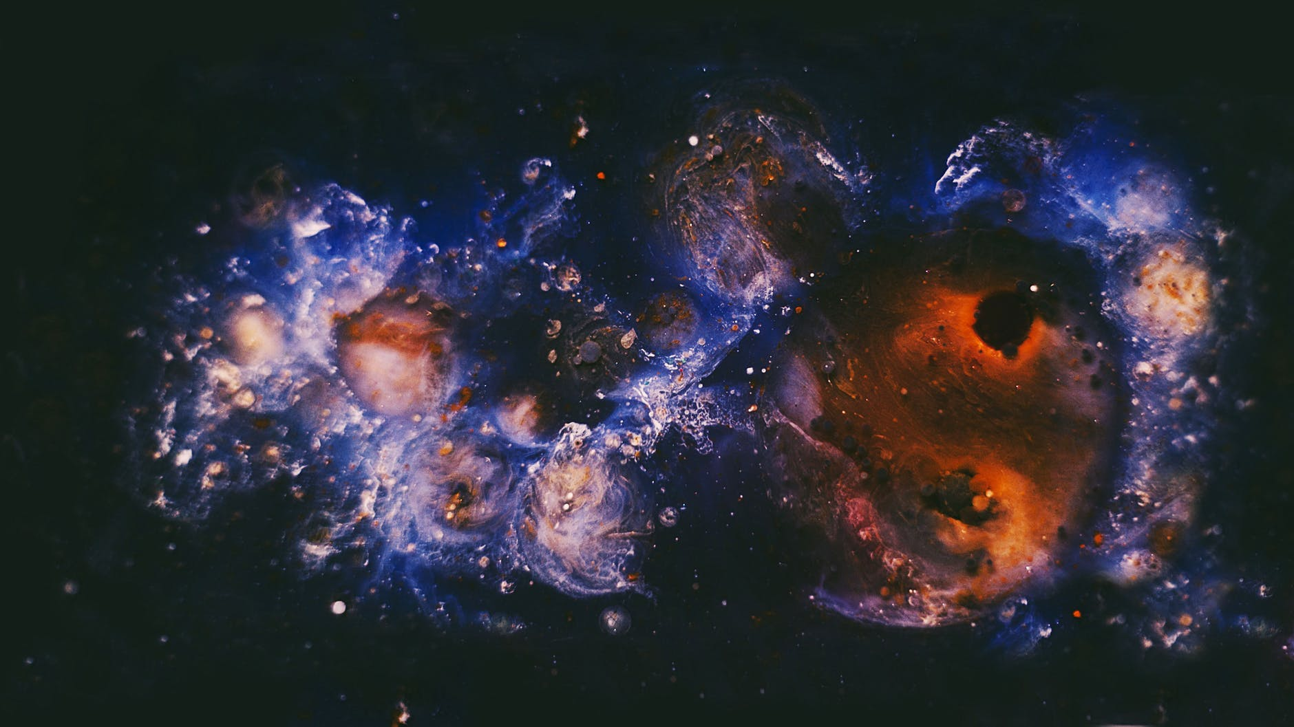 blue and brown milky way galaxy
